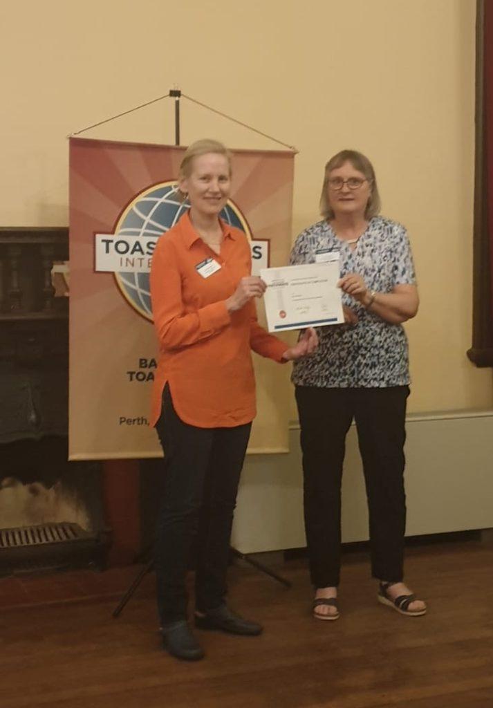 Toastmasters Certificate Presentation
